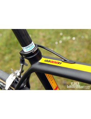 This paint scheme was created just for Boonen but just in case, his name is painted on the top tube, too