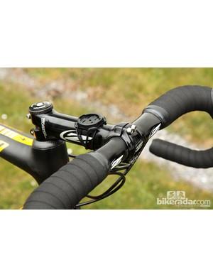 The all-aluminum Zipp cockpit on Tom Boonen's (Omega Pharma-QuickStep) Specialized S-Works Roubaix SL4