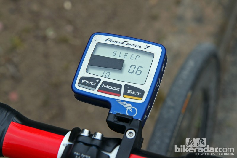 Taylor Phinney (BMC) has the 'power' field taped over on his SRM PowerControl 7 computer. Phinney is apparently going to go by feel on Sunday