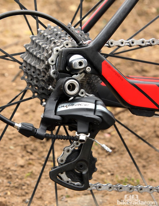 As are many Shimano-sponsored riders here at Paris-Roubaix, Taylor Phinney (BMC) will use Shimano's older Dura-Ace 7900 mechanical group on Sunday. Team mechanics said this would be the group's last race before switching over to the new stuff, though
