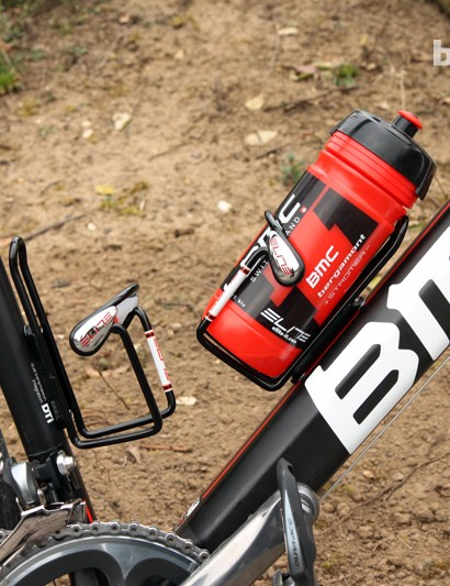 Elite Ciussi aluminum cages and bottles will keep Taylor Phinney (BMC) hydrated on Sunday