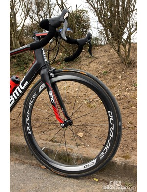 50mm-deep Shimano Dura-Ace carbon tubular wheels are the plan for Sunday