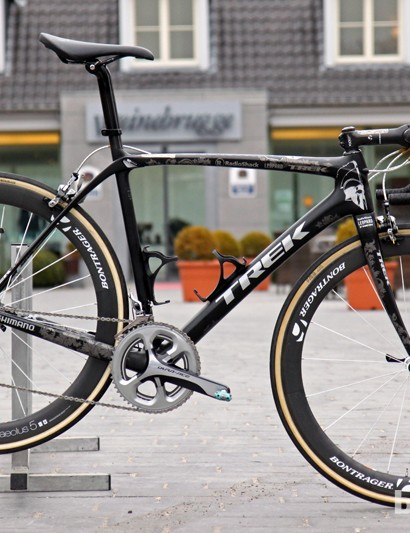 Fabian Cancellara's (Radioshack-Leopard-Trek) Trek Domane 6-Series at Paris-Roubaix was identical to what he used at Ronde van Vlaanderen, save for tires and gearing