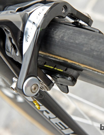SwissStop Black Prince carbon-specific brake pads for Fabian Cancellara (Radioshack-Leopard-Trek)