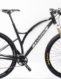 The 29er uses a Reynolds/Columbus steel tubing mix