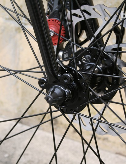 The chromoly butted fork gets convenient eyelets