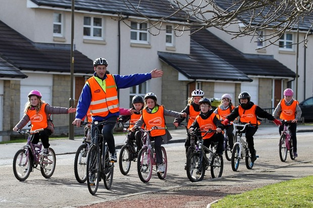 Graeme Obree helped launch Bikeability Scotland