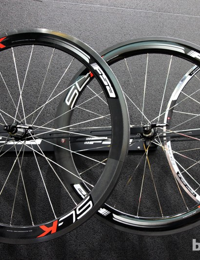 FSA's SL-K range also gets a full-carbon clincher for 2014. It features the same 55mm rim depth and 1,560g claimed weight as the K-Force Light model but with conventional steel cartridge bearings instead of hybrid ceramics