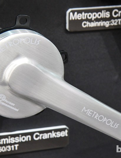 New for 2014 is a belt-compatible version of FSA's Metropolis two-speed crankset