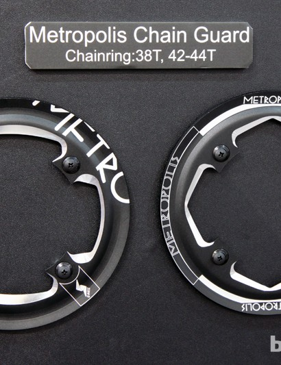 New for 2014 are FSA Metropolis chain guards made of machined aluminum