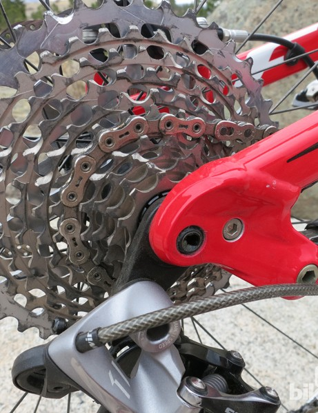 SRAM's 10-42T XX1 group provides ample gearing