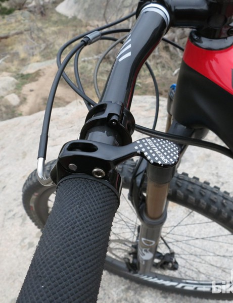 With no front shifter there's only braking and seatpost opperation to the left hand worry about
