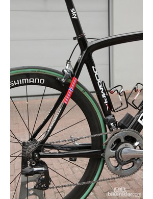 The curved seat stays supposedly act as sort of leaf spring when hitting bumps to reduce jarring on cobbles and rough roads