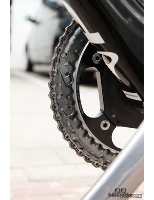 Bigger-than-normal inner chainrings are practically standard issue at Paris-Roubaix given the flat parcours