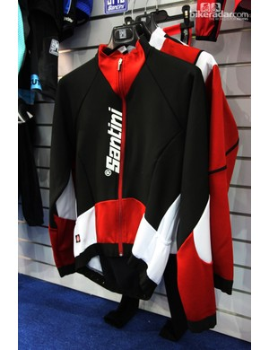 Santini's new Active Air Intake winter jacket features a trim cut and unique vents on the rear