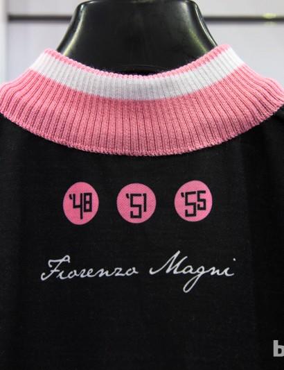 The knit collar lends a classic look to Santini's Fiorenzo Magni commemorative jersey