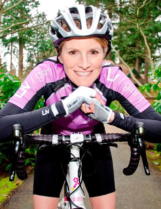 Breast cancer survivor Barbara Greenlee's design features on the bike this year