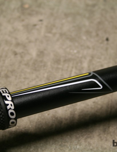 Pinstripe detailing in Nukeproof colours