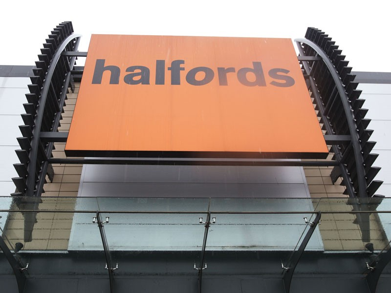 Bike sales at Halfords have suffered because of the colder than usual winter