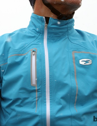 The waterproof zipper seams keep water out but are difficult to operate