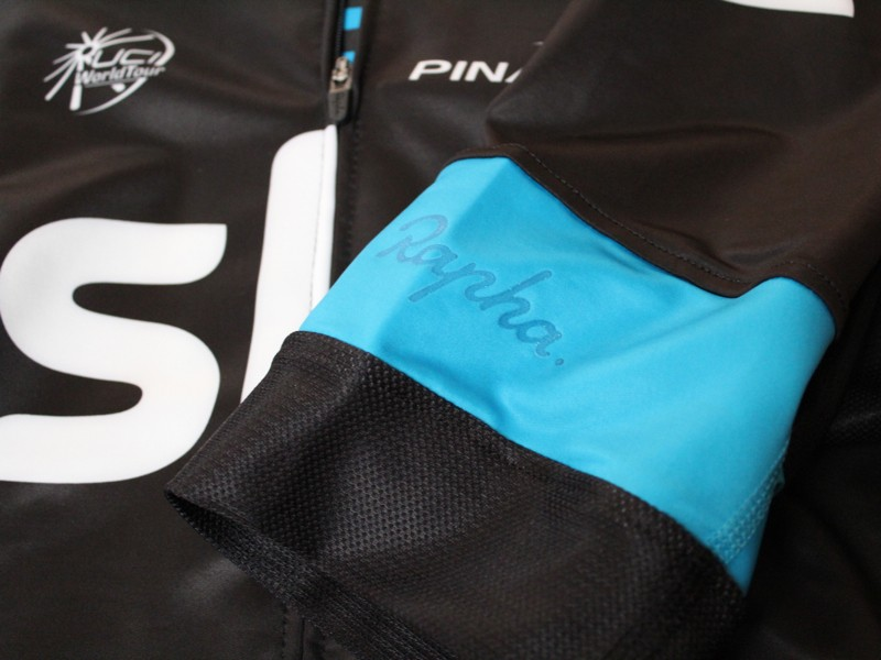 Rapha sells Team Sky gear in three levels: supporter, replica and pro. This is the pro jersey