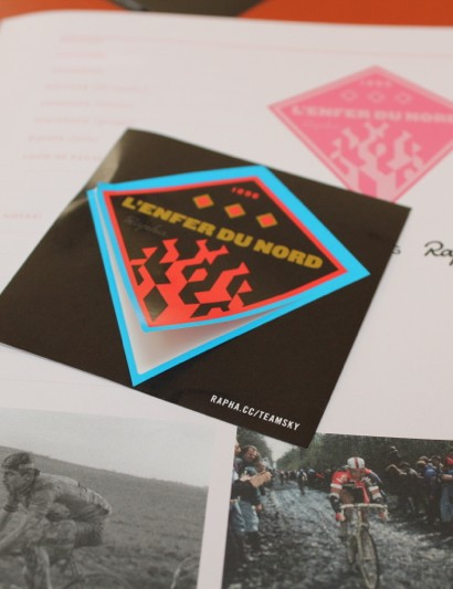 The Season Guide comes with stickers for the first three races of the year, and more can be collected from Rapha at races, or through Rapha orders