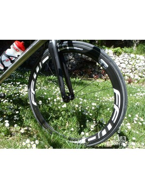 The 45mm-deep rims come with either white or red/white graphics