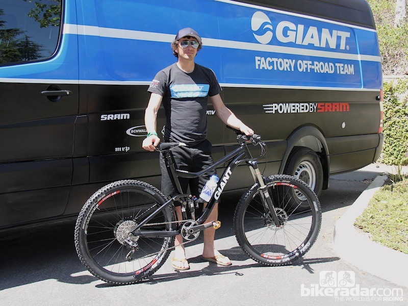 Adam Craig plans to use (what we believe to be a 650B Trance) for many of his enduro races this season