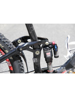 A Monarch Plus RC3 shock in the back provides an estimated 150mm of rear suspension travel