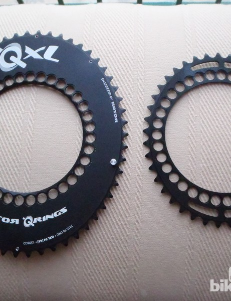 Rotor QXL rings have are ovalised to increase chain pull through the most powerful part of your pedal stroke