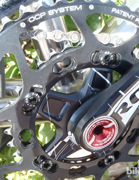 Additional bolt holes allow riders to tune the position of the rings