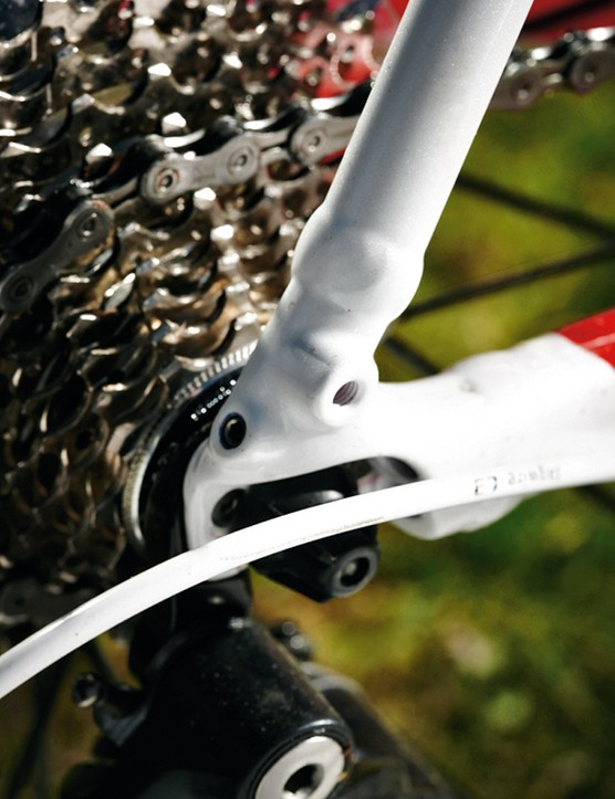 Mudguard mounts are there if you want them…