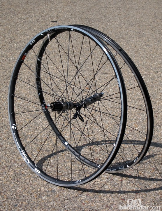 Actual weight on our set of Bontrager Race X Lite TLR test wheels is just 1,438g without skewers, valves, or rim strips. Skewers weigh 138g per pair and the rim strips and valves add another 80g