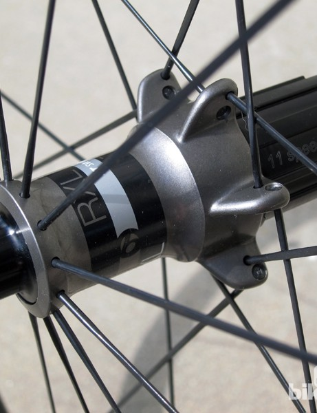 The driveside flange features a 'stacked' design that pushes the spokes as far outboard as possible