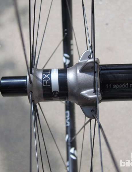 Bontrager has done a good job of building the RXL TLR wheels with decent bracing angles - especially given the wider 11-speed freehub body