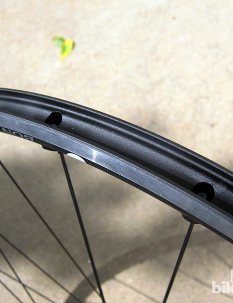 The rim profile may be well suited for seating tubeless tires but the pierced outer rim wall still requires a special rim strip to be airtight