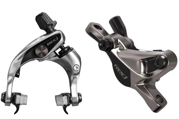 SRAM's Hydro R hydraulic road rim caliper and disc caliper