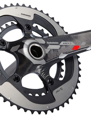 The SRAM Red 22 GXP crankset