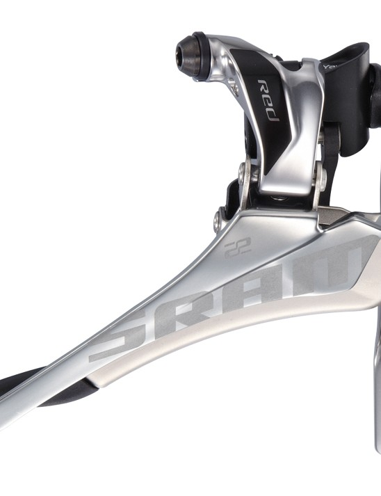 The SRAM Red 22 Yaw front derailleur