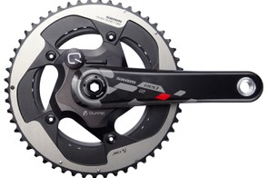 SRAM Red 22 has a number of crank options, including an integrated Quarq power meter