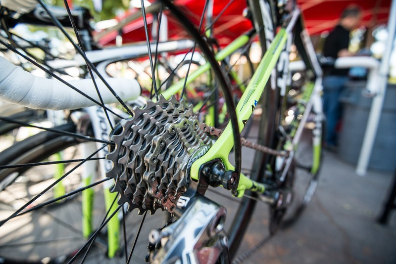 The added 16-tooth cog makes for 1-tooth shifting from the 11 to the 17