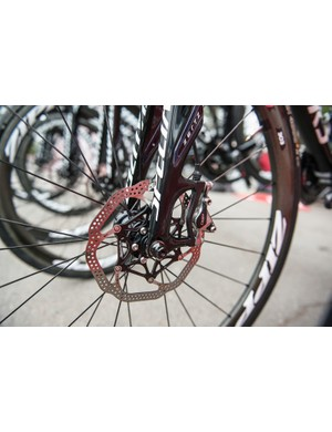 SRAM requires 160mm rotors front and rear for road use