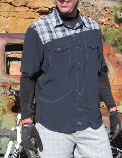 The Bolt shirt is designed for riding mountain bikes and bar stools