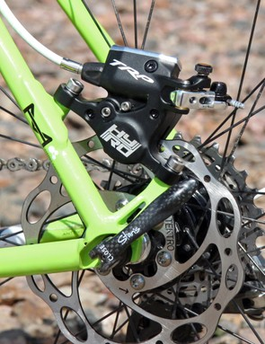TRP's new HY/RD mechanical-hydraulic hybrid disc brake caliper offers the convenience of cable actuation with the self-adjusting pads of an open hydraulic system, making them perfect for cyclocross
