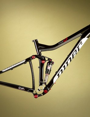 The frame with a RockShox Monarch RT3 shock will retail for $1849