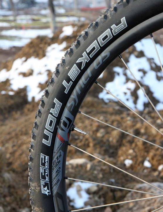 Schwalbe's Rocket Ron tires are fast-rolling yet fantastically grippy in a wide range of conditions. They're not particularly durable, though