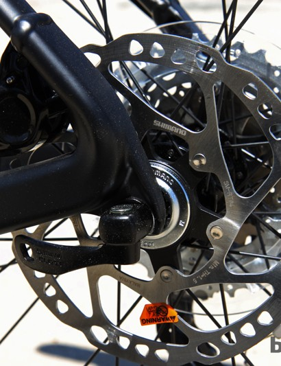 Unfortunately, the aluminum Scott Scale 740 uses quick-release rear dropouts instead of the thru-axle ones used elsewhere in the range