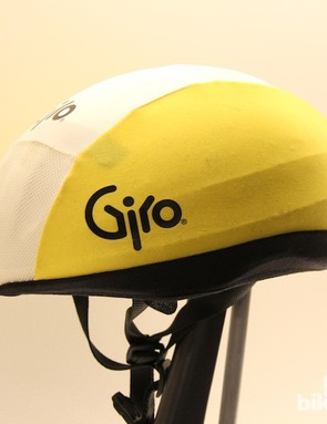 Giro's first helmet was constructed entirely from EPS foam and featured a Lycra cover that could be color matched to team kits