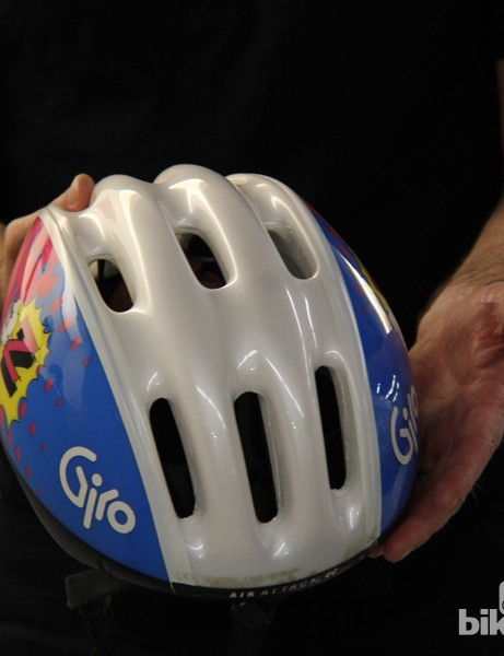 Lycra covers were soon replaced by polycarbonate covers that resemble today's helmets