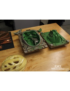 Helmet production is a labor intensive process, with many parts going into each mold